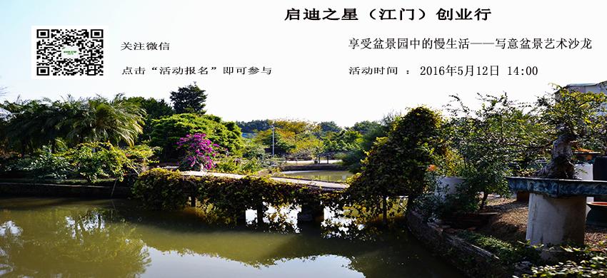 享受盆景园中的慢生活——写意盆景艺术沙龙|启迪之星江门创业行
