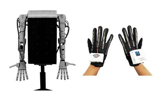 说明: 机器人加手套