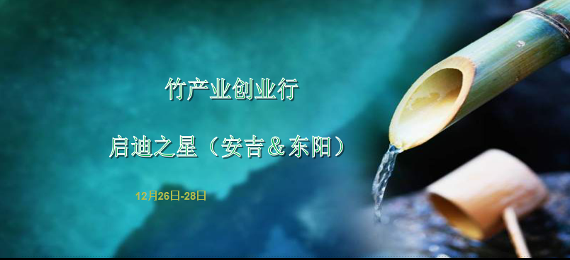 """启迪之星(东阳&安吉) """"竹产业""""创业行"""